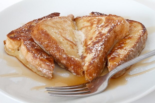 French toast with maple syrup